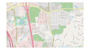 Map centered on Chastain Meadows Parkway running north to south, south of Chastain Road.