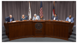 Cobb's five planning commissioners at the desk