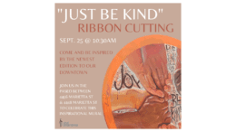 Poster for the Be Kind ribbon-cutting